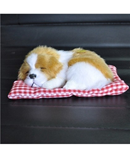 Brown White Simulation Animal Doll Plush Sleeping Dogs